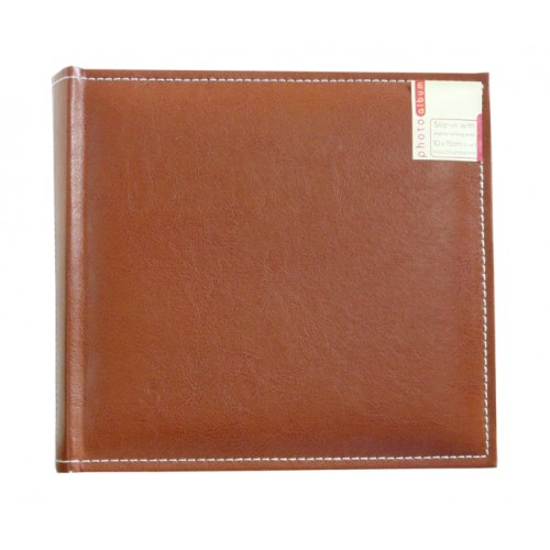 """Brown/Leather Album 4x6"""" holds 200 photos"""