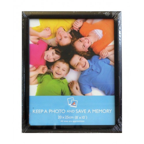 "10x12"" Black rounded edged frame"