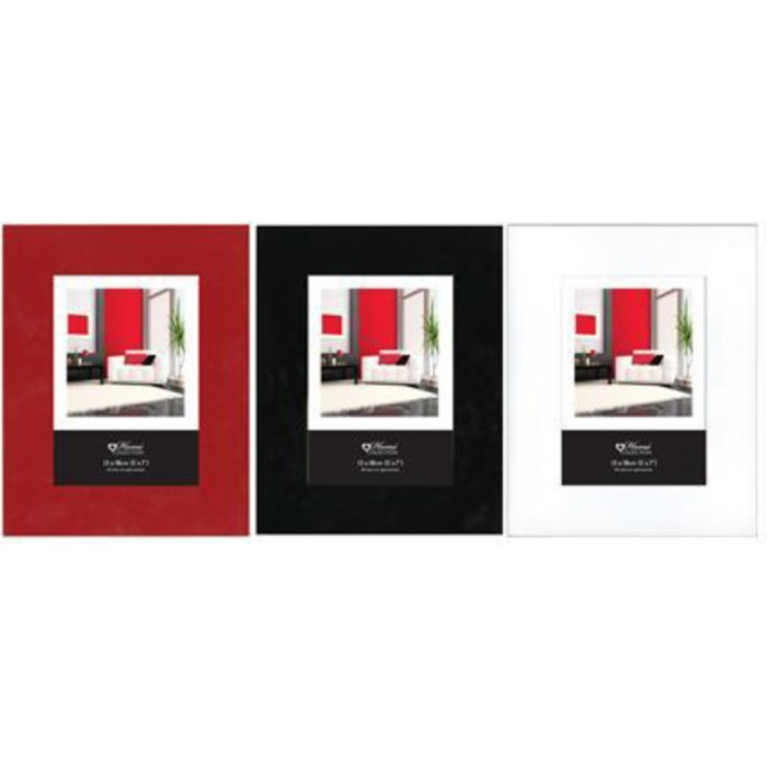 5x7 Gloss Frame Available In Red Black And White