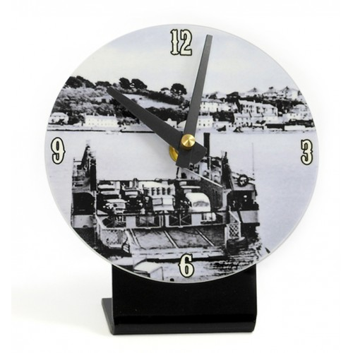 Cornwall printed desktop clock depicting Old Saltash