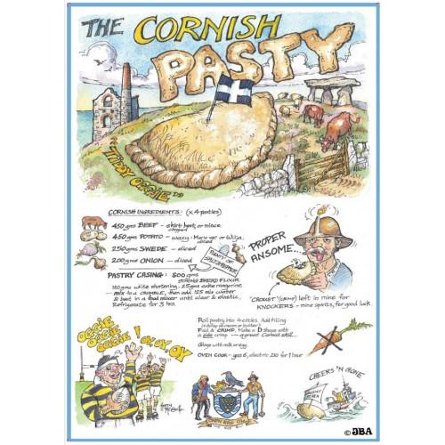 Cornish Pasty recipe Tea towel