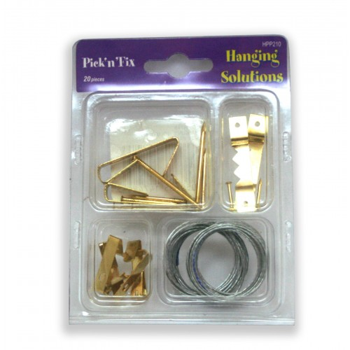 20pc Picture frame hanging kit
